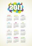 Vertical vector calendar for 2011 year. Vertical color vector calendar for 2011 year Vector Illustration