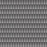 Vertical Vector cut dots seamless design pattern. Royalty Free Stock Images