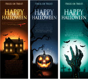 Vertical vector Halloween invitation banners Royalty Free Stock Photography