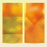 2 vertical vector polygonal banners Stock Images