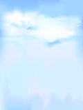 Vertical vector sky - blue abstract background. With clouds vector illustration
