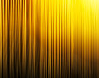 Vertical vibrant yellow curtains Stock Image