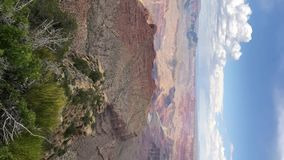 Vertical video. Grand Canyon national park stock footage
