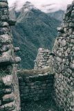 Vertical view of the Andes from ancient Inca ruins. stock photos