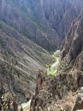 Vertical view of Black Canyon in Colorado Royalty Free Stock Images