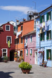 Vertical view of Burano Royalty Free Stock Photo