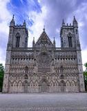 Vertical view for cathedral in Trondheim Royalty Free Stock Photo
