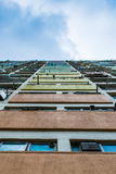 Vertical View of Choi Hung Estate. (Rainbow Estate), a public housing estate in Hong Kong Stock Images