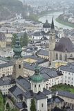 Salzburg on rainy day royalty free stock images