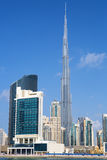 Vertical view of Dubai skyline Royalty Free Stock Photos