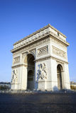 Vertical view of famous Arc de Triomphe Stock Images