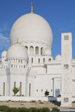 Vertical view of famous Sheikh Zayed Grand Mosque Royalty Free Stock Image