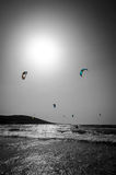 Vertical View For Surfers Beach On Rhodes Royalty Free Stock Photos