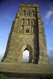 Vertical view of Glastonbury T. Or Stock Photos