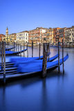 Vertical view of gondolas in Venice Royalty Free Stock Images