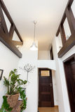 Vertical view of hall in house Royalty Free Stock Images