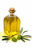 Vertical view with jug of olive oil Stock Photo