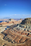 Vertical view of the lake Powell, Stock Image