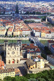 Vertical view of Lyon Stock Photo