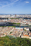 Vertical view of Lyon Royalty Free Stock Image