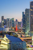 Vertical view of Miami downtown Stock Photography