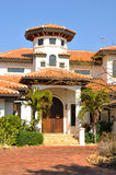Vertical View Of Spanish Style Home Stock Photography