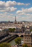 Vertical view of Paris from Notre Dame Royalty Free Stock Photography