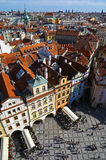 Vertical view of Prague Royalty Free Stock Photos