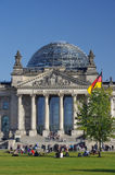 Vertical view of Reichstag in Berlin Stock Photos