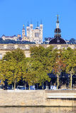 Vertical view of Rhone river Royalty Free Stock Image