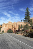 Vertical view of Road to Bryce Canyon Royalty Free Stock Photo