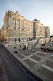 Vertical view of the Royal Palace in Madrid, Spain Royalty Free Stock Images