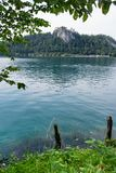 Foothills of the Alps, Lake Bled, Slovenia, Europe. royalty free stock photography