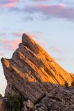 Vertical  View of Vasquez Rocks at Sunset Stock Images