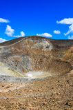 Vertical view of volcano crater on Vulcano island, Sicily Stock Images