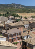 Vertical views of Loarre, Aragon, Huesca, Spain from the top, the Castle Royalty Free Stock Photography