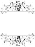 Vertical vintage floral frame Stock Photos