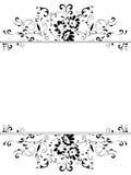 Vertical vintage floral frame Stock Photos