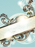 Vertical vintage French retro banner Stock Photo