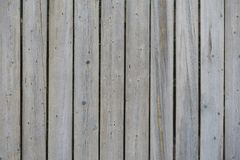 Vertical vintage gray boards with traces of bark beetles as background.  stock photo