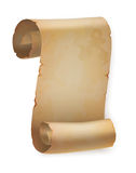 Vertical vintage paper roll or parchment scroll Stock Photos