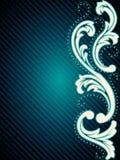 Vertical vintage rococo background Stock Image