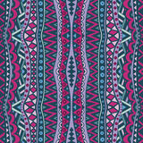 Vertical Vintage Seamless Ethnic Pattern. Seamless ethnic pattern. Abstract vertical tribal ornament in vintage colors. Retro multicolored background Royalty Free Stock Photo