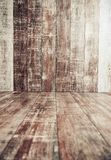 Wooden floor and wall interior Royalty Free Stock Photo