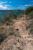 Vertical vista of Bill Evans Lake in New Mexico. royalty free stock image