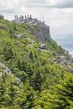 Vertical - vista cênico do parque estadual da rocha da chaminé fotografia de stock royalty free