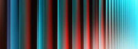 Vertical vivid red cyan digital curtain abstraction Royalty Free Stock Photography