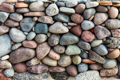 Vertical wall of boulders. royalty free stock image
