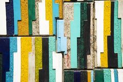 Colorful vertical stone block wall ,tiles , background Stock Image