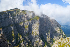 Vertical wall mountain. Beautiful view of Costila mountain peak and the vertical rock wall Royalty Free Stock Photography